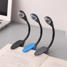 Luz de libro Led Mini Clip-On lámpara LED brillante Flexible Lámpara de lectura de libros para viajes dormitorio lector de libros regalos de navidad @ Q(China)