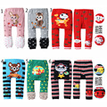 Baby Pants Boys girls cartoon print knitted pp pants elastic waist toddler Leggings Kids Clothes 3-24 M
