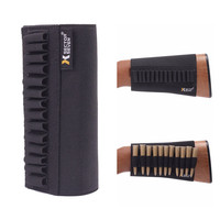 Tactical Buttstock Ammo Holder Gun Rifle Stock Ammo Portable Pouch 14 Shell Cartridge Holder With Cheek Pad Combat Hunting Gear 1