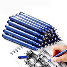Superior 9 pcs Neelde Soft Brush Fine Line Pen Black Sketch Markers Waterproof Drawing Pen for School  Stationery Supplies цена и фото