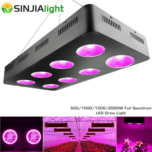 500W 1000W 1500W 2000W COB LED Grow Light Full Spectrum Growth Lamp for Hydroponics greenhouse grow tent indoor plants lighting
