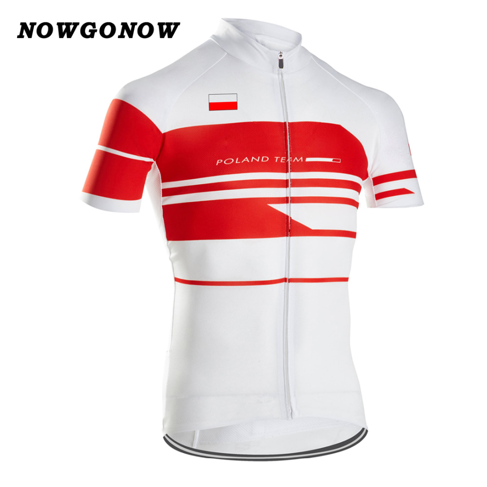 the latest b2e90 20263 US $11.88 |NOWGONOW 2017 cycling jersey Poland national team red/white  maillot ciclismo ropa flag map clothing bike wear road MTB love-in Cycling  ...