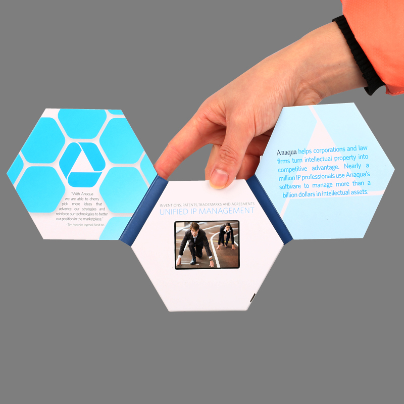 Professional customized 2.4 inch business card video brochure video ...