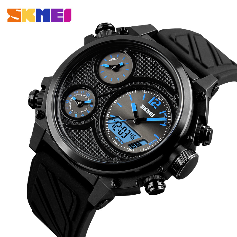 SKMEI Mens Watches Luxury Brand Men Analog Quartz Watch Waterproof Date Clock Large Dial Military Sport Watch Relogios Masculino burei mens watches top brand luxury men quartz analog clock stainless steel strap watches waterproof relogios masculino 2018 new
