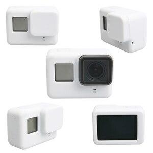 Image 2 - Lbkafa移動プロアクセサリー8色カメラケース保護シリコンケース皮膚 + レンズキャップカバー移動プロヒーロー5ヒーロー6カメラ