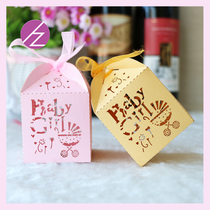 wholesale free shipping baby shower invitation candy greeting invitaion gift box islamic wedding favors party decoration supply