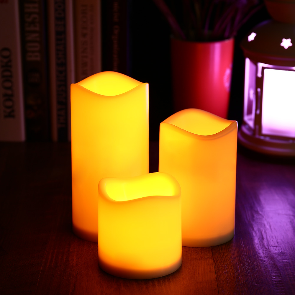 3sets lot new candle wireless remote control candle operated led flameless candles bougie light. Black Bedroom Furniture Sets. Home Design Ideas