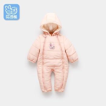 Детская одежда для новорожденных, детские комбинезоны, детская зимняя одежда, женская утепленная одежда, зимнее хлопковое пальто с капюшон