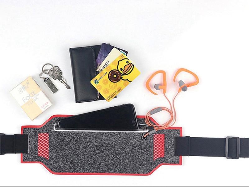 Professional Running Waist Pouch Belt Sport Belt Mobile Phone Men Women With Hidden Pouch Gym Bags Running Belt Waist Pack (14)