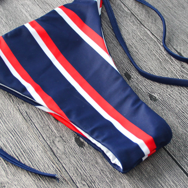 Hirigin Striped Women Swimsuits Women Bandage Push Up Paded Imbottito Reggiseno Bikini Set Hot Bathing Suit Beach Swimwear