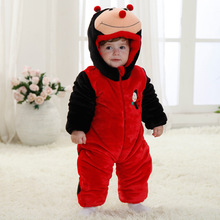 Cabritos de la manera ropa del mameluco animal del bebé mariquita disfraz traje de la muchacha(China (Mainland))