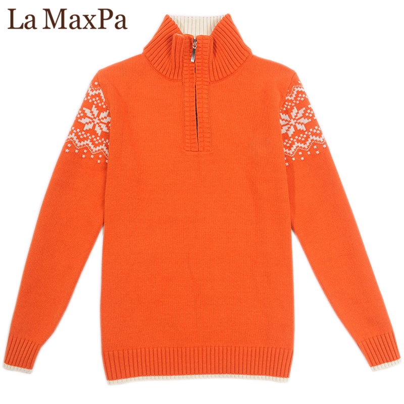 New Arrival 2018 Baby Boy Clothes 100% Cotton Winter Half Zip Sweater Children Kids Ribbed Sleeve Knitwear Jumper Teens Tops ribbed zip up jacquard cardigan