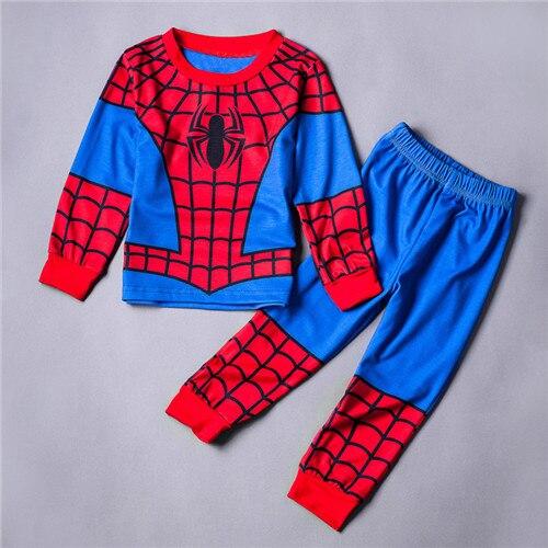 2PCS Enfants Garçons Bébé Ironman sleepwear Homewear Pyjamas Ensemble correspondant Outwear 1-8Y