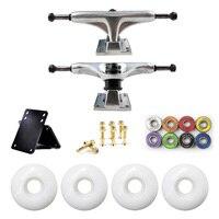5in Skateboard Trucks Combo Set 5230mm Wheels Aluminum Magnesium Alloy Professional Bridge Skate Board Bracket Free