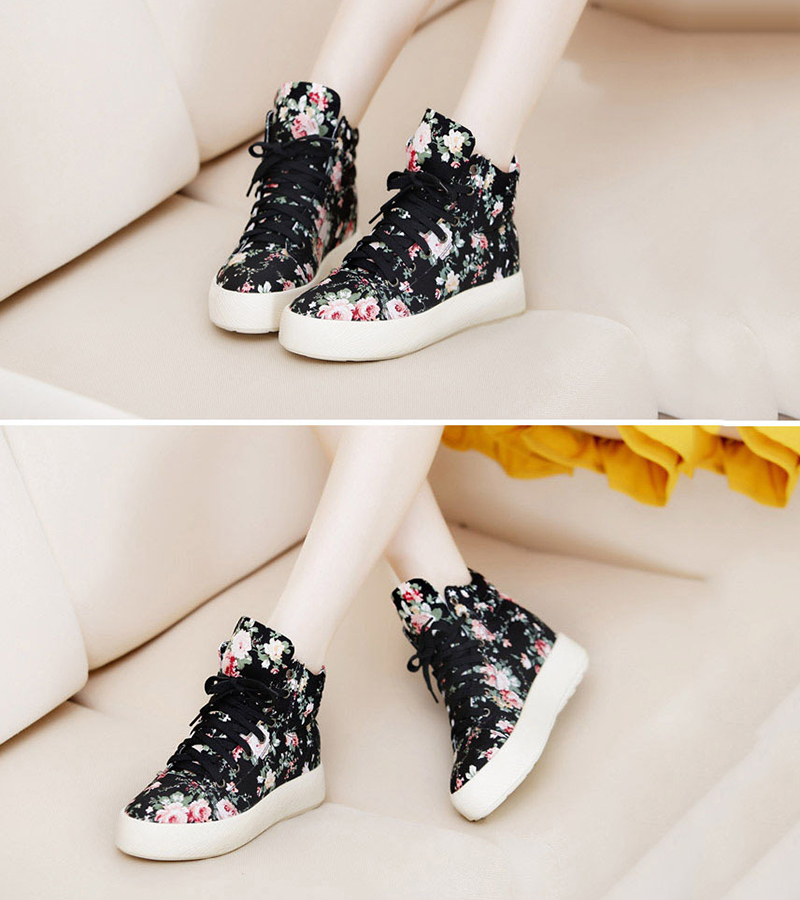Summer Sport Casual Shoes 2018 New Women Fashion Print Canvas Shoes female Footwear Leisure Women Vulcanize Shoes CLD903 (11)