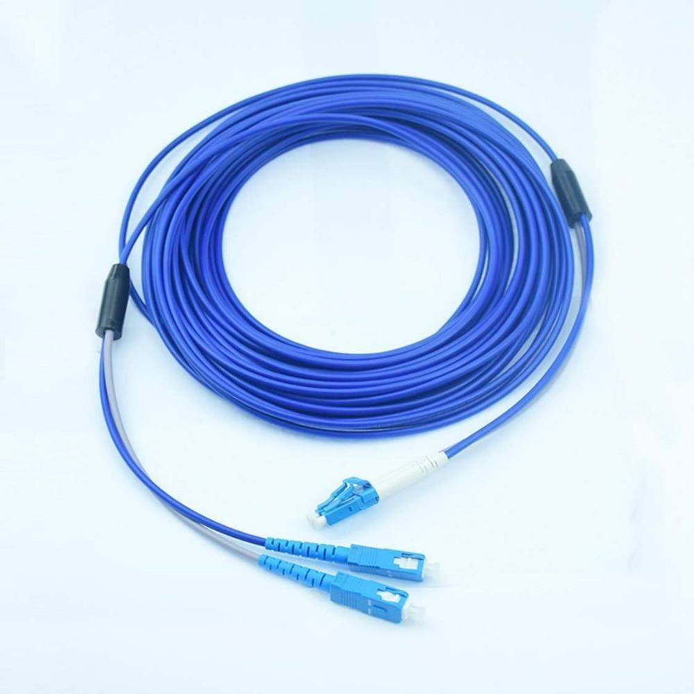 50meters Armored Singlemode Duplex Fiber Optic Cable(9/125)- LC to SC