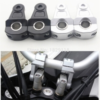 22mm Or 28mm Universal CNC Aluminum Motorcycle Handle Bar Clamp Handlebar Riser Adjustable For BMW Yamaha