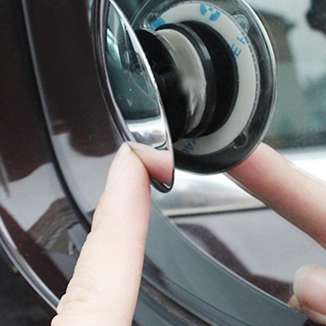 2019 Universal Car Mirror Wide Angle Double Use Assist Round Convex Blind Spot Mirror For Parking Rear View Mirror Rain Shade 1