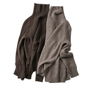 Image 5 - Women Sweater Winter&Spring 100%Cashmere and Wool Knitted Jumpers Female Pullover Hot Sale Turtleneck 3Colors Thick Clothes Tops
