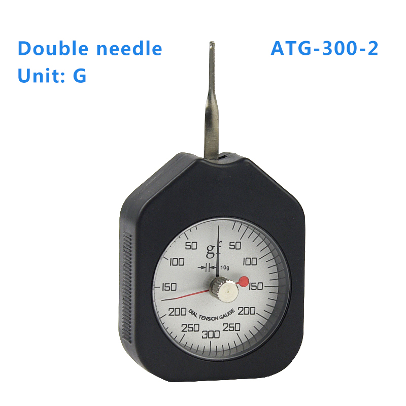 ATG-300-2 Dial Tension Meter Analog Force Gauge Double Pointer Force Tools 300g