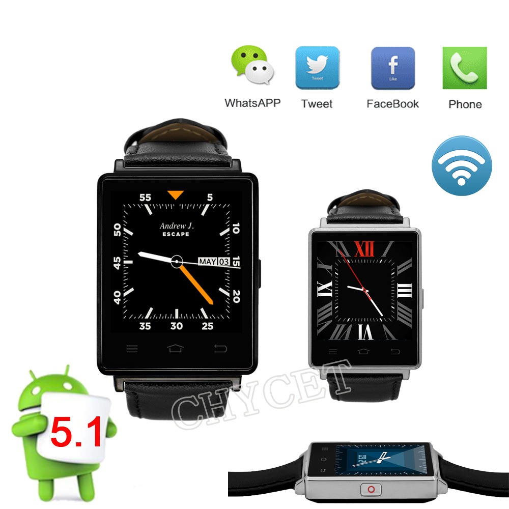 Smart Watch D6 1GB RAM 8GB ROM MTK6580 Quad Core 1.63 Inch Android 5.1 Support Wifi GPS Heart Rate Monitor Fitness SmartWatch цена и фото