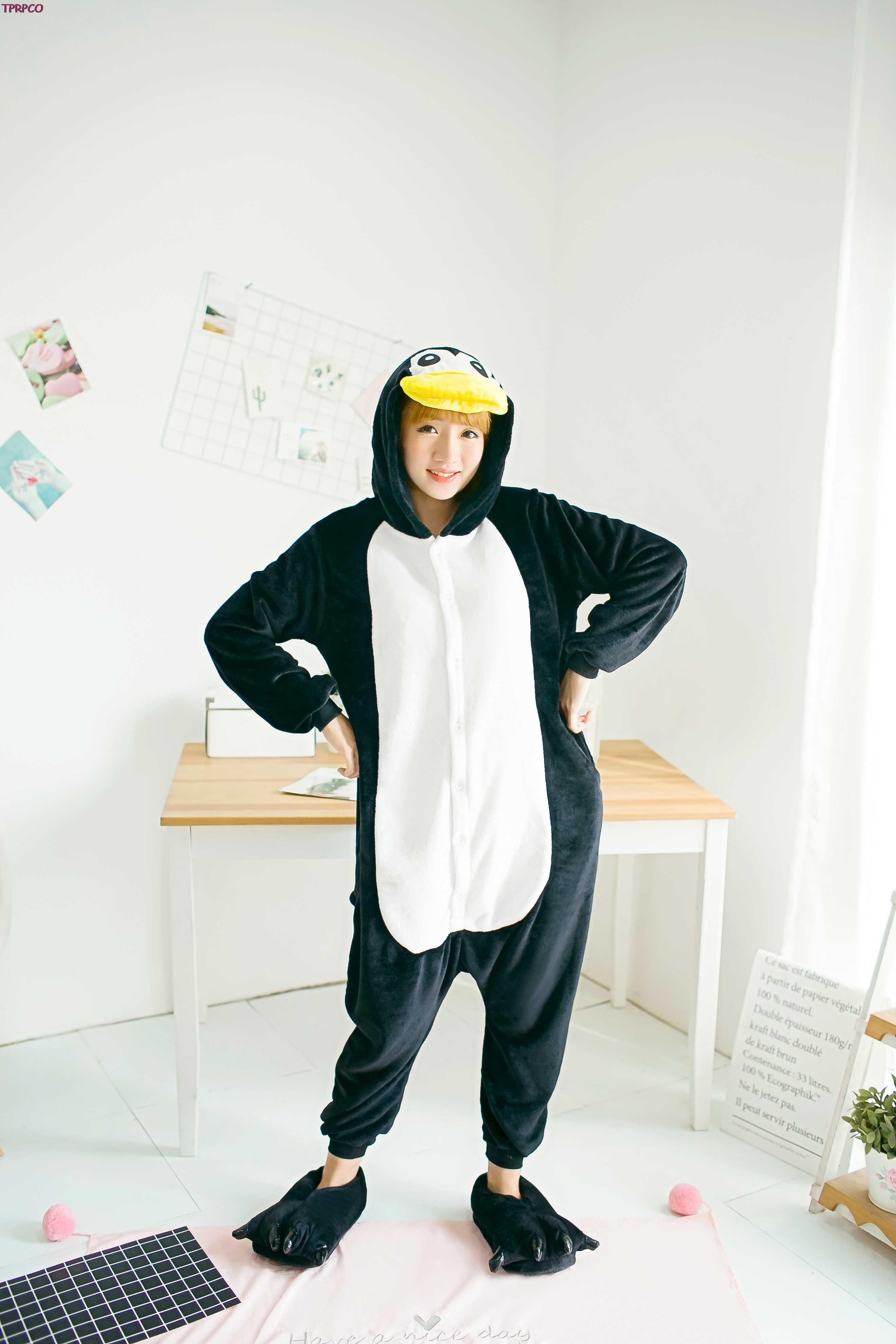 Pijamas Unisex de franela de pingüino para adultos, pijamas de animales de dibujos animados Cosplay para mujeres y hombres