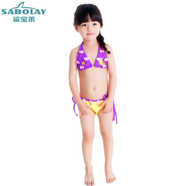 f7feee295793 Children's Swimsuit Girls Baby Lace Bikini Baby Baby Cute Flower Bikinis  Set Two Pieces Girls Bathing Suit 1T 2 4 5 6 Years Old