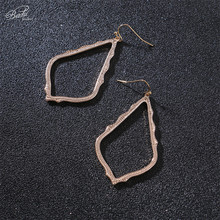 Badu Geometric Metal Earring for Women Big Rhombus Pendant Drop Earrings Punk Jewelry Vintage Fashion Wholesale