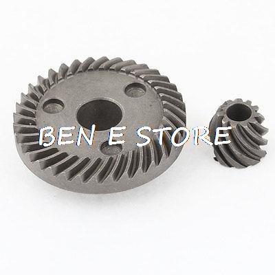 1 pair Replacement Metal Grinding Spiral Bevel Pinion Ring Gear Set Gray for Angle Grinder 9523NB