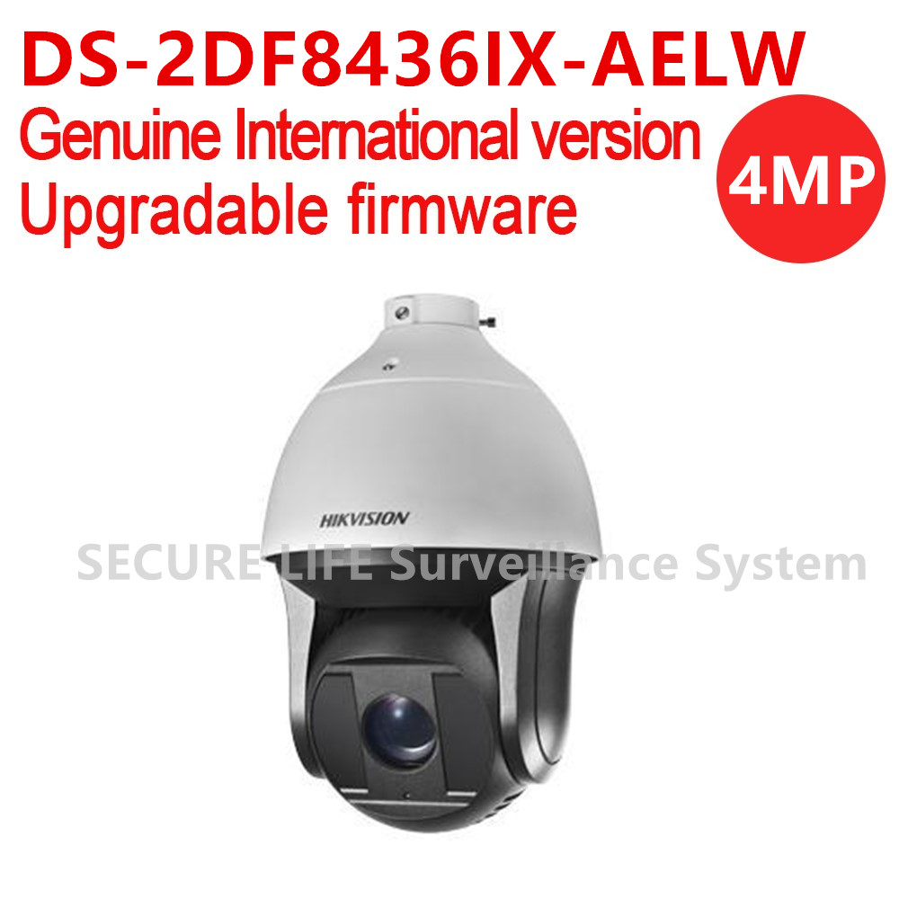 Hikvision DS-2DF8436IX-AELW International version 4MP 36X Network IR Speed Dome PTZ camera 200m IR, Smart Tracking, wiper H.265+ 2017 new ds 2df8836iv aelw english version 4k smart ir ptz camera poe camera with wiper