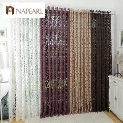 Роскошные модные стильные полузатемненные шторы, занавески для кухни, окна, гостиной, занавески, панели, жаккардовые ткани, для двери