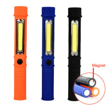 250LM COB LED Lamp Camping Work Pen Light LED Flashlight Torch With Magnetic Side Clip Bottom Self Defense Magnetic Work Lamp