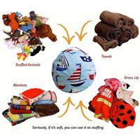 Large Capacity Storage Bag Portable Kids Toy Organizer Stuffed Animal Storage Bean Canvas Bag Travel Outside