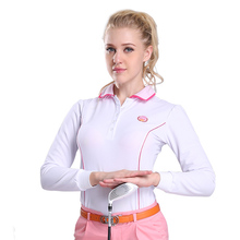 Golf PGM authentic long sleeve golf shirts for women mens Korean polo quick dry shirt golf sports clothing plus size 2015 new