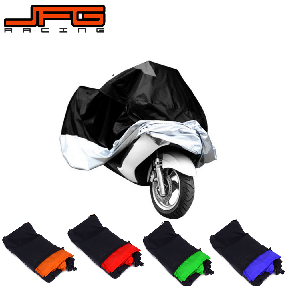 M L XL XXL XXXL Motorcycle Waterproof Rain UV Cover Protection For KTM YAMAHA HONDA EXC CRF SXF YZF KLX SCOOTER DIRT PIT BIKE dust proof rainproof motorcycle cover for all terrain vehicle quad bike black size xxl