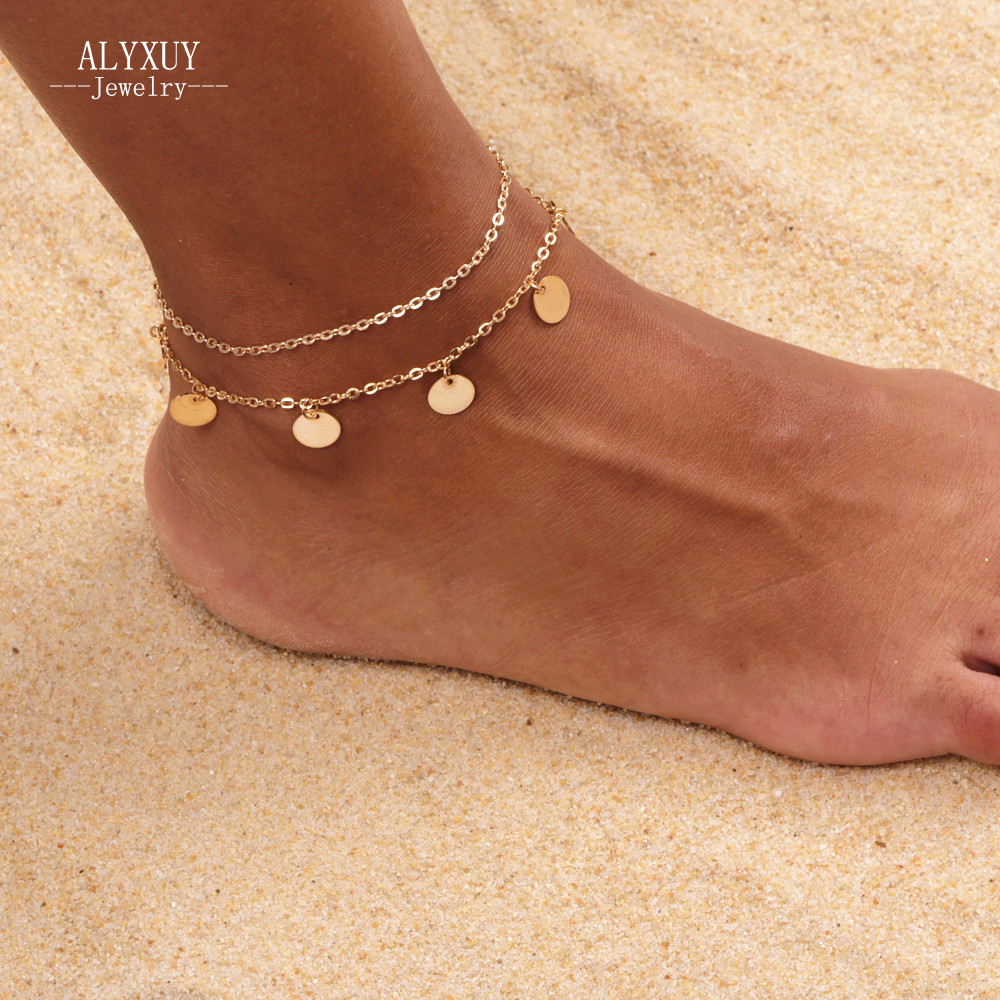Nieuwe mode trendy voet sieraden Bohemen stijl ronde kraal enkelbandje gift voor vrouwen meisje AN12