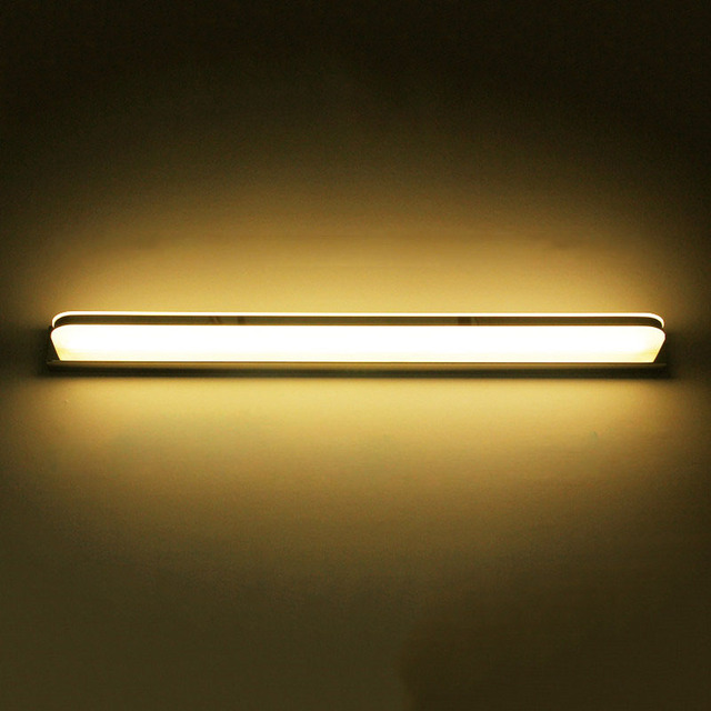 Led mirror light 9W 42cm waterproof wall lamp AC110V-240V Acrylic and stainless steel wall mounted bathroom lighting free ship