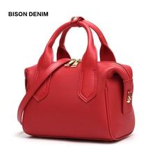 BISON DENIM Cow Leather Women Bag New luxury handbags women bags designer Pillow shape fashion Shoulder Bag crossbody bags N1599