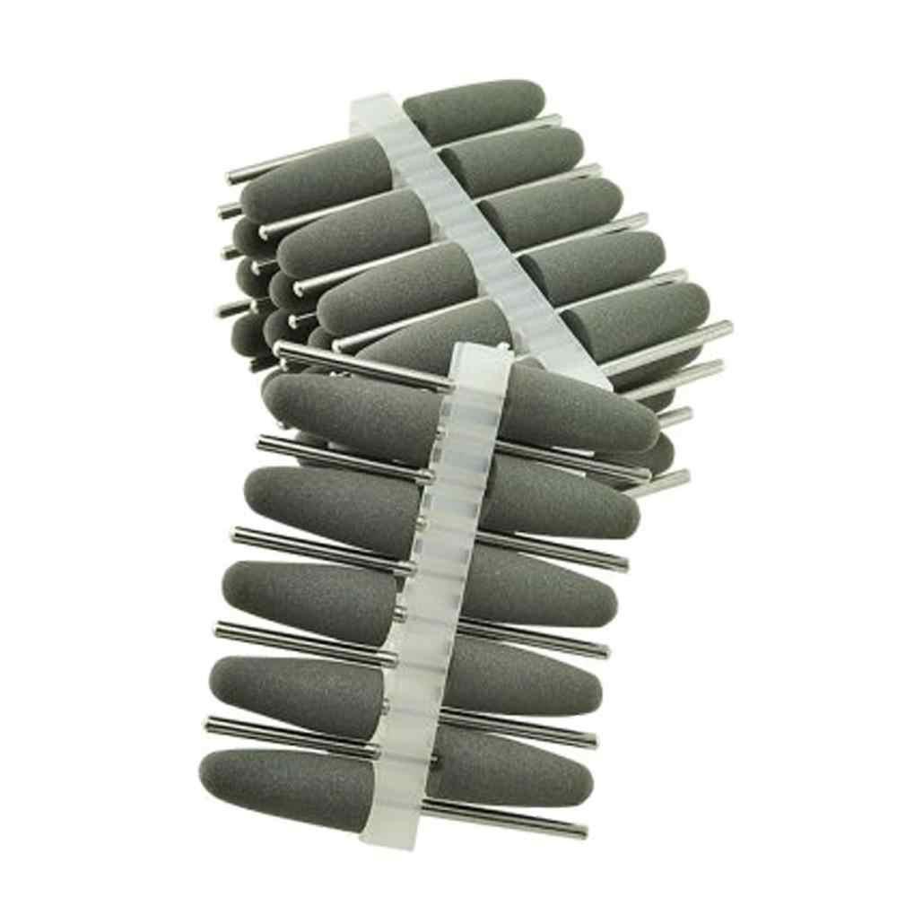 50 шт. силиконовые резиновые Полировальные Алмазные полировальные боры 2,35 мм серые стоматологические инструменты