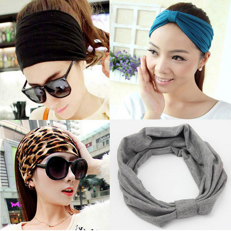 Korean Big Cotton Hair band Women and Girls Leisure Hair Dress and - Apparel Accessories