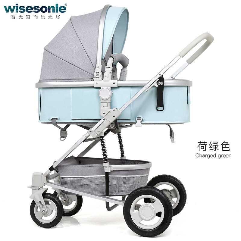 3 In1 bébé poussette peut s'asseoir inclinable pliant amortisseur poussette haute paysage léger enfants poussette bébé panier