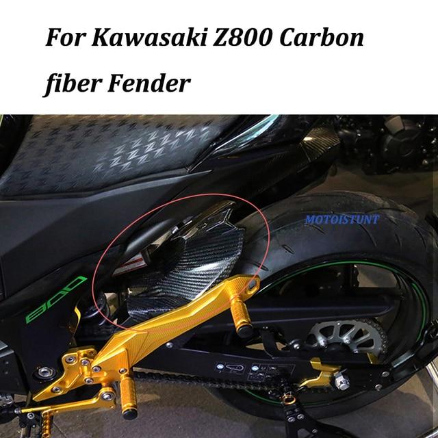 Motorcycle Accessories Carbon Fiber Rear Fender Mudguard Fender Hugger For Kawasaki Z800 ZR 800 Z ZR800 2013 2016 2014 2015