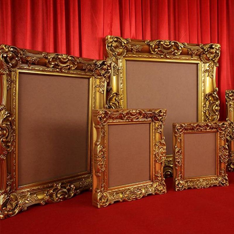 Großhandel Antike Gold Europäischen Bilderrahmen Kunststoff Foto ...