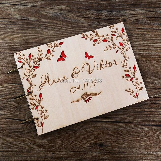 Wedding Guest Book Wood, Butterfly Guestbook Wedding, Rustic Wedding ...