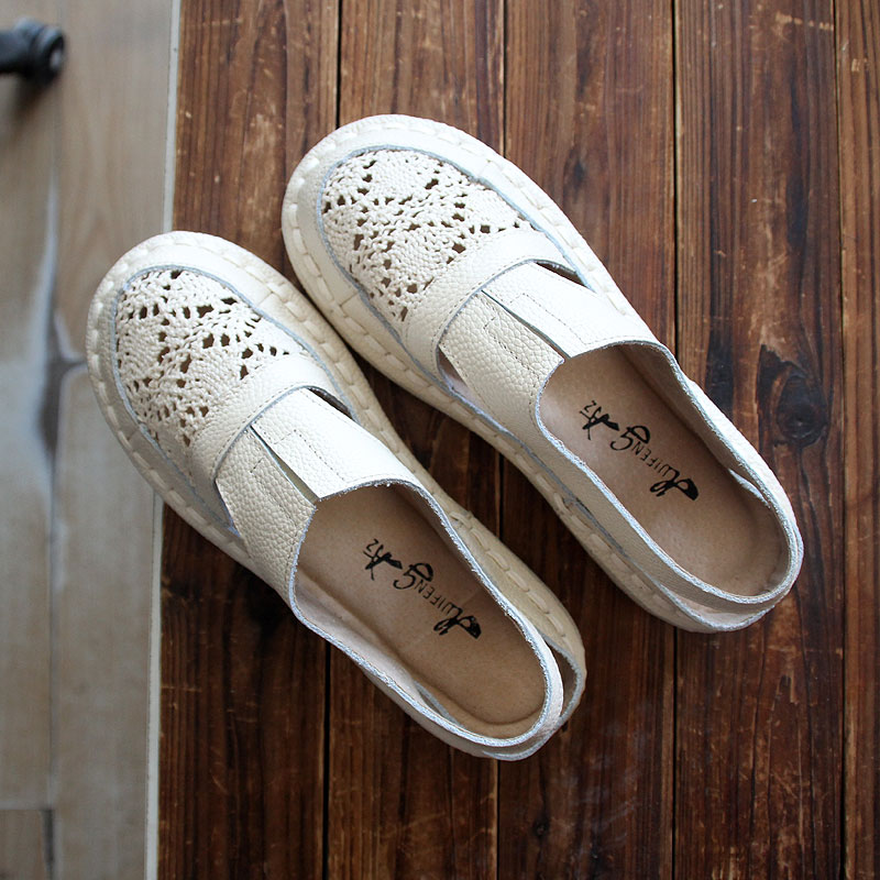 Pur Été 3 2018 white Huifengazurrcs Plat gray Couleurs Handemade chaude Beige Nouveau Loisirs Véritable Maille Cuir Chaussures Respirant En Fond EIqSq