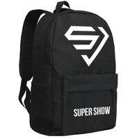 MeanCat Korean Star Singing Boy Band Super Junior Collection Backpack Super Show SJ SuJu SuJr School Backpacks for Fans