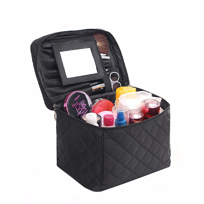 Beautician Necessaire Large Cosmetic Bag Cases Organizer Beauty Vanity Makeup Box Women Men Travel Toiletry Wash Pouch Mirror