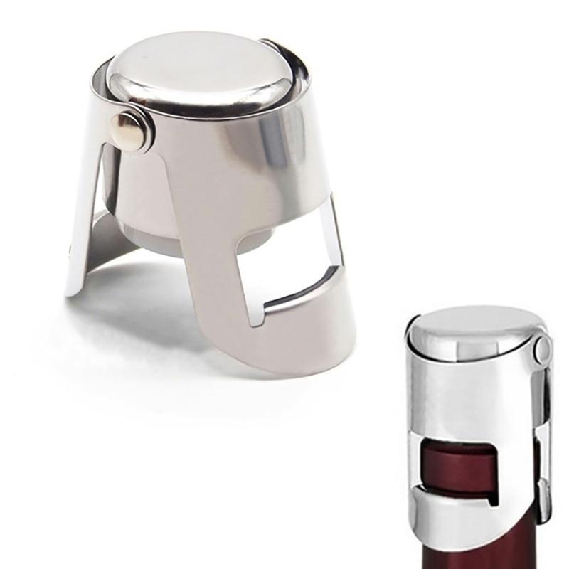ختم غطاء زجاجة النبيذ البيرة زجاجة الفلين المكونات الفولاذ المقاوم للصدأ الشمبانيا تألق سدادة زجاجة نبيذ سدادة أدوات البار غطاء النبيذ