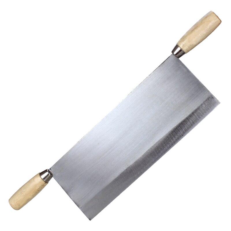 Китайский Шаньси Ручная ковка утолщенный токарный нож с двойной деревянной ручкой нож край холодная рисовая лапша кухонный инструмент