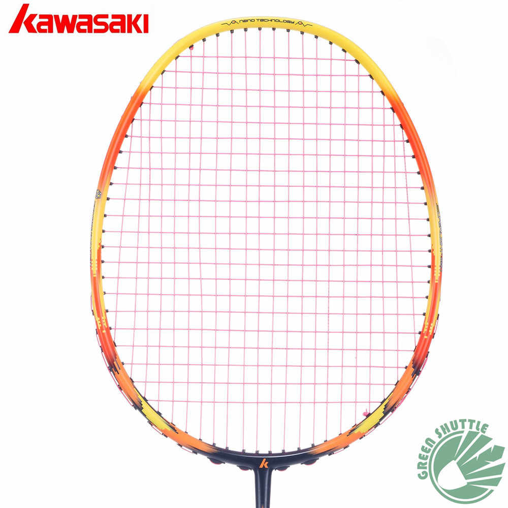 Only 73g 6U Kawasaki Super Light 680 580 Badminton Racquet 30T Aerofoil Frame Badminton Racket 100% carbon With Free Grip